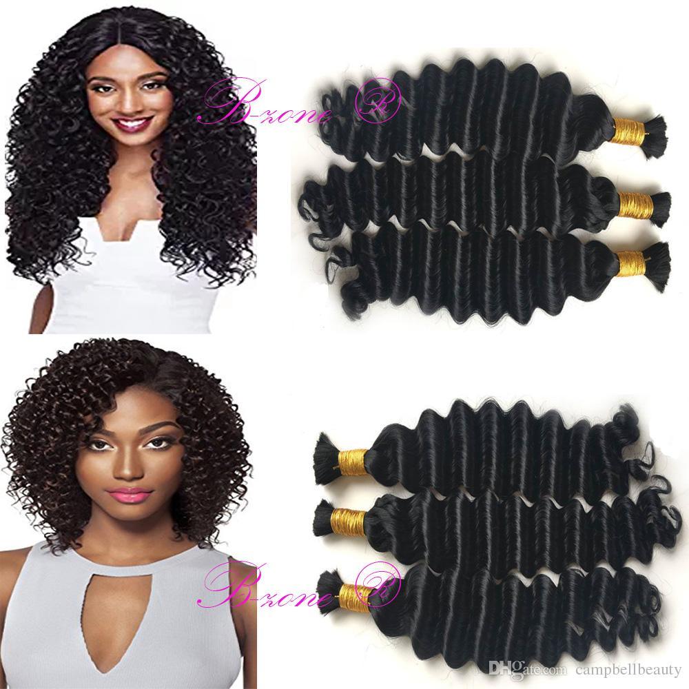 Hot Selling Deep Bulk Braiding Hair, Human Hair Quality, , Bulk Hair for Micro Braiding Natural Black