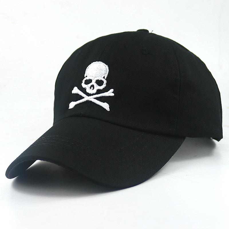High Quality Embroidered skull baseball cap SKULL Baseball hat unisex Snapback Hats Outdoor Cuasual & Sport Cap hats wholesale