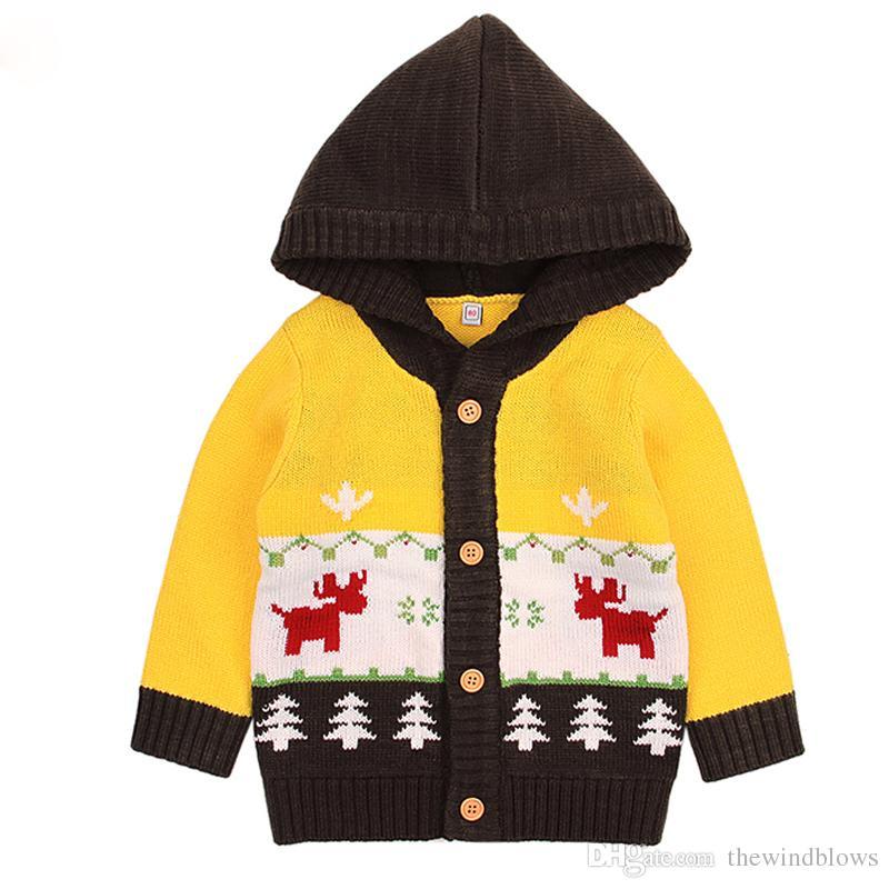 Großhandel 2018 Kinder Weihnachten Pullover Herbst Stricken Baby
