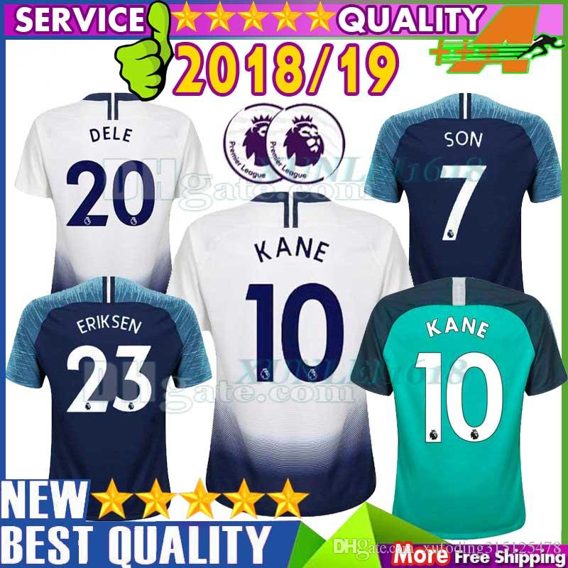 d0f205fd7 AAA Thai Quality 18 19 Tottenhames KANE Jerseys Home Away Third ...