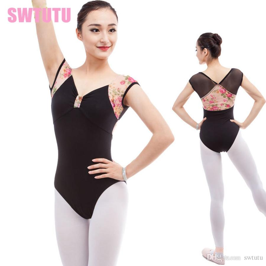 34f63c250 2019 Women Gymnastic Dance Leotard Costume CS0309 Ladies Mesh Cap ...