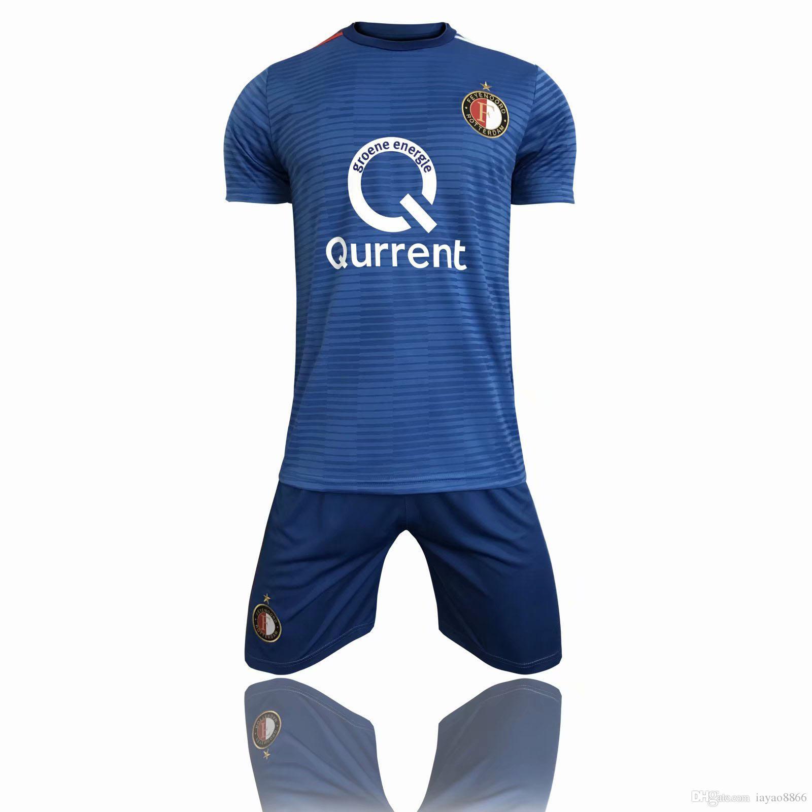 2019 2018 19 Feyenoord Home Away Thai Quality Soccer Jerseys Shirts Set 11  LARSSON 32 V.PERSIE 19 BERGHUIS 10 VILHENA 9 JORGENSEN Football Shirt From  ... 3c1a1dd31