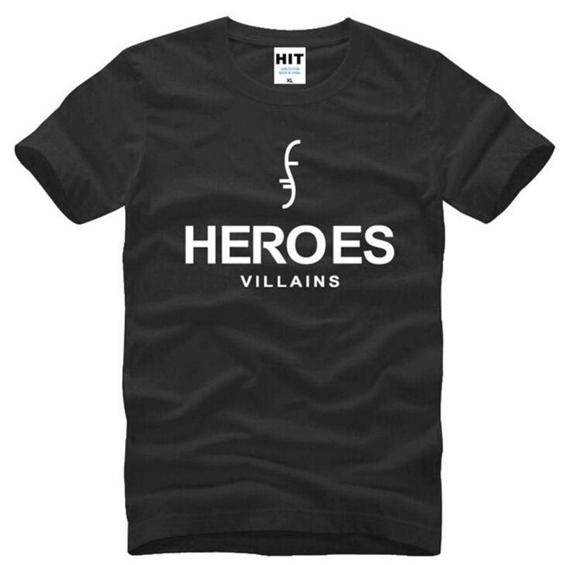 Amerikan Süper Kahraman KAHRAMANLAR Baskılı T Shirt Erkekler Yeni Yaz Kısa Kollu O-Boyun Pamuk erkek T-Shirt Moda Erkek Hayranları Tees Tops