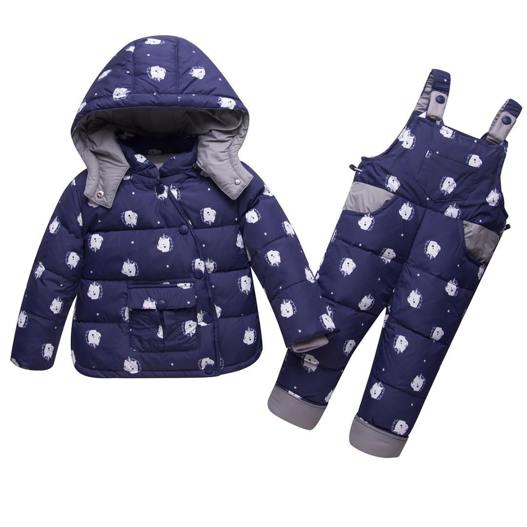 058406aad542 Infant Baby Girls Winter Coat Snowsuit Unicorn Outerwear Duck Down ...