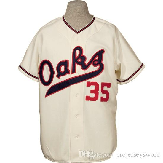 090fdb5a4 2019 Oakland Oaks 1955 Home Jersey 100% Stitched Embroidery Logos Vintage Baseball  Jerseys Custom Any Name Any Number From Projerseysword