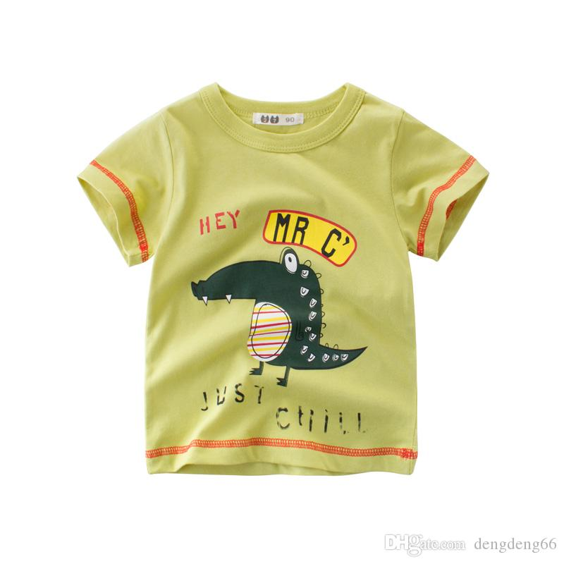 2019 Kids Baby Boys Casual T Shirt Lovely Cute Animal Printed Short Sleeve  Tee Shirt Breathable Soft Children Tops Tee Clothing From Dengdeng66 dd73fa7c9
