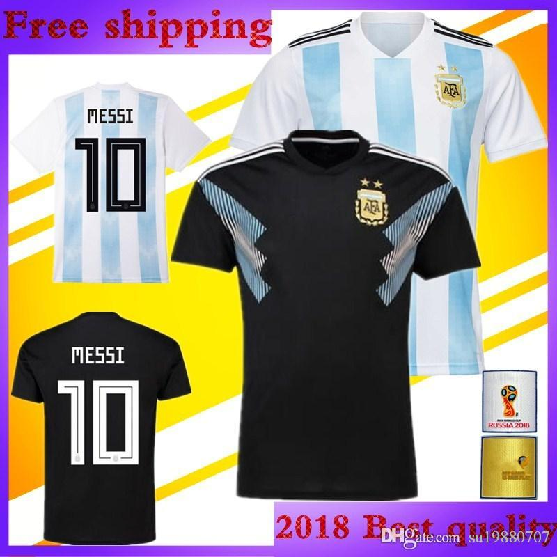 0d0b5f782 2018 World Cup Argentina DI MARIA Soccer Jersey 2019 National Team Home  Blue And White Away Black OTAMEND DYBALA ICARDI Messi Football Shirt UK  2019 From ...