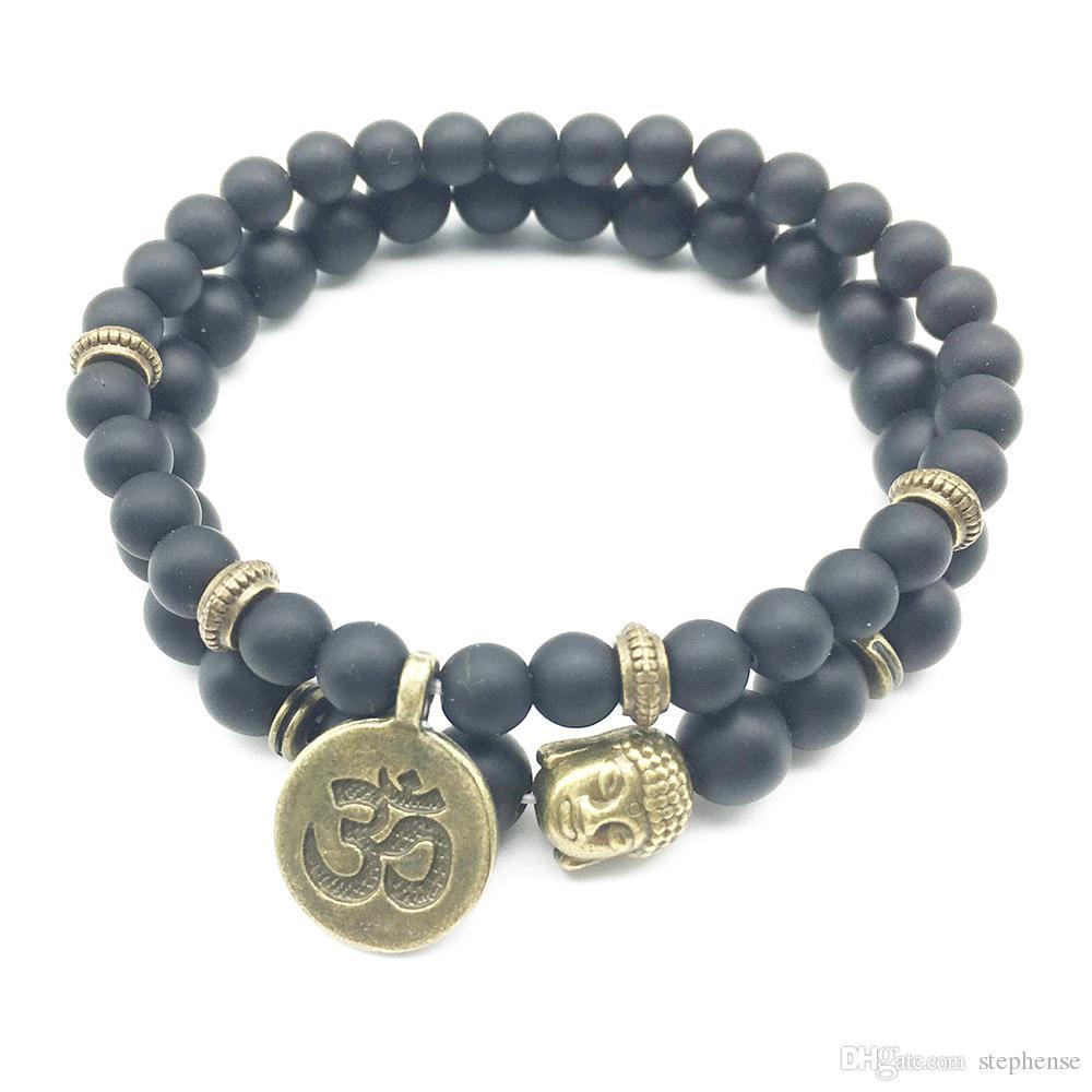 SN1271 En Vente Bouddha Ohm Bracelet Ensemble Vintage Design Yoga Yoga Bracelet Fashiopn Nouvelle Arrivée Bijoux En Gros