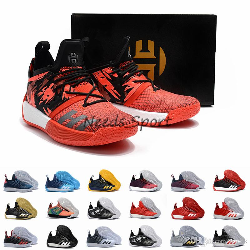 2018 New James Harden Vol.2 Orange Green Basketball Shoes Mens Harden Vol 2  Concrete Maroon Concrete Athletic Sports Sneakers Shoe Shops Cheap  Basketball ... d0d9f2912464