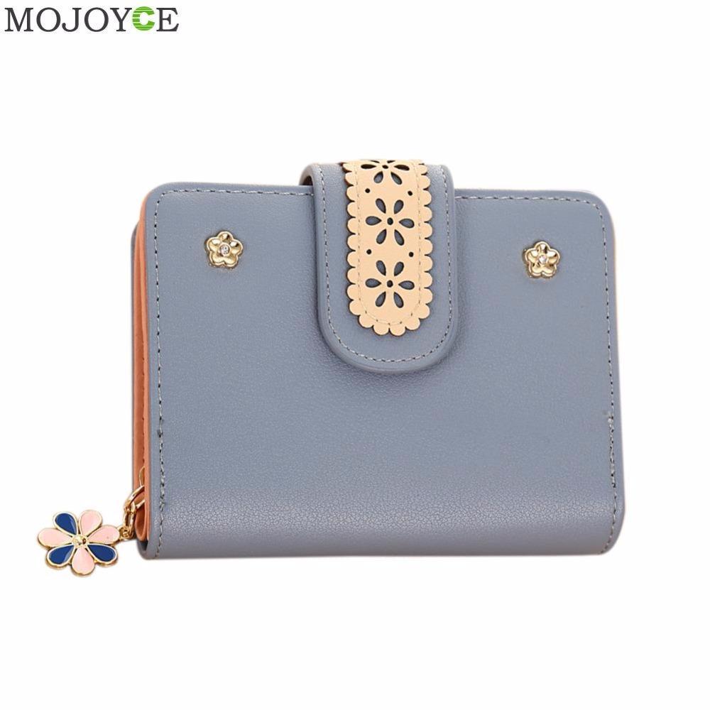 1ca7ea4bae37 Bifold Women Flower Lace Wallets Multifunction Small Female Coin Purse Card  Holder Short Lady Clutch Bag Purse Mini Money Bags