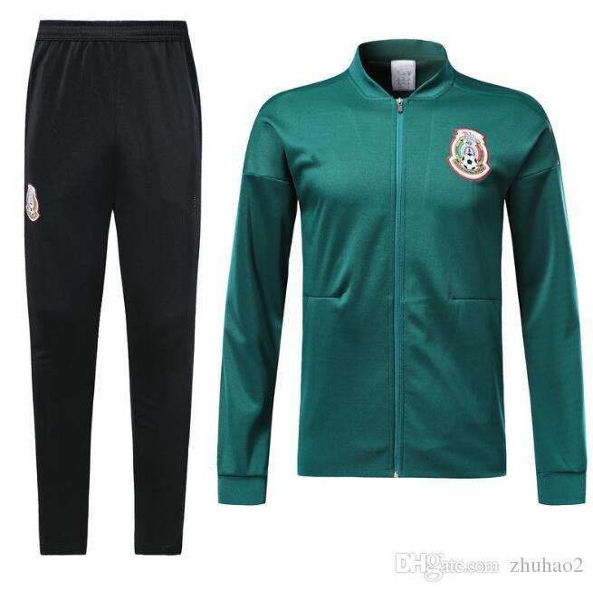 8d6831420 2018 World cup Mexico soccer Jacket Mexico tracksuit 18 19 CHICHARITO  national team Football jacket Training Top Long sleeve suit +pants