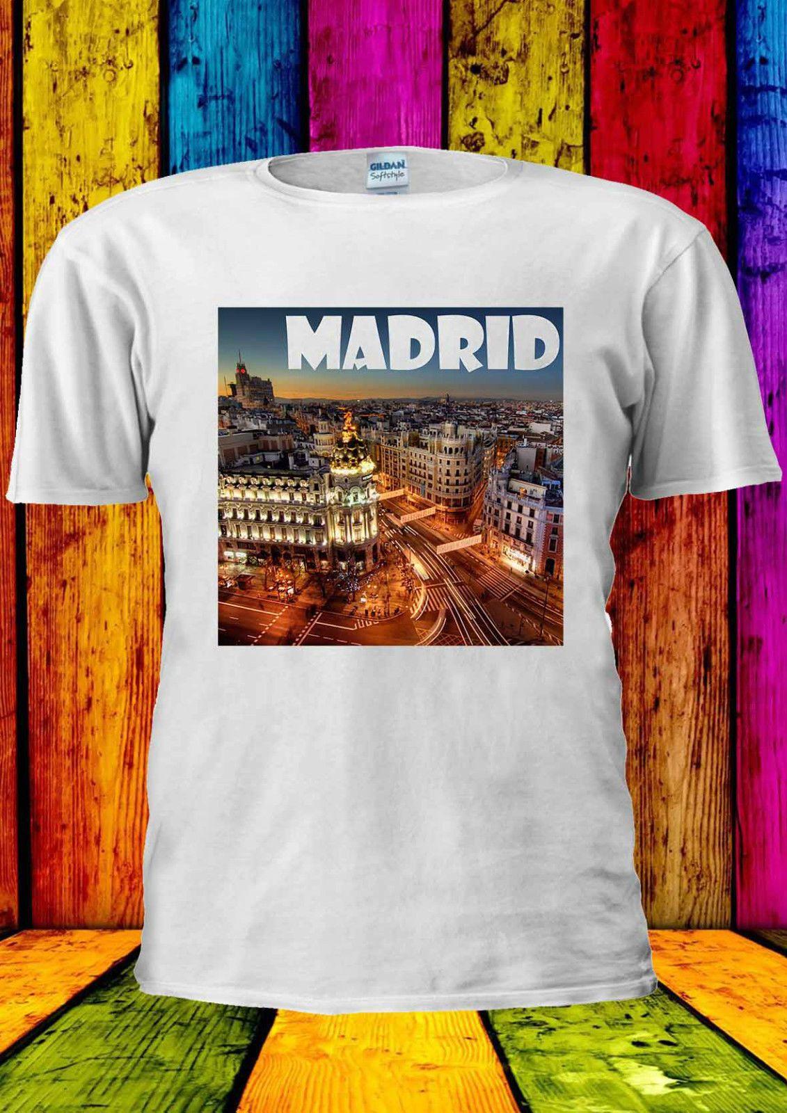 8169c4eed3d0 Madrid Spain Dream City Tumblr T Shirt Vest Tee Tops Men Women Cool Casual  Pride T Shirt Men Unisex New Fashion Tshirt Cool Tee Designs Tees Shirts  Cheap ...