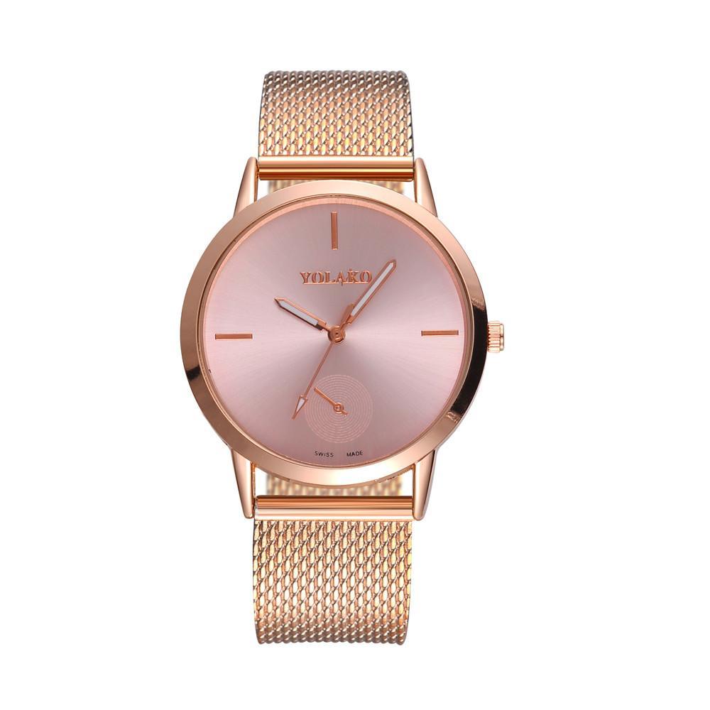 36fc7bcc8f0b Compre Reloj Para Mujer Rose Gold Watches Reloj Mujer Reloj Pulsera Simple  Reloj Malla De Acero Inoxidable Relogios Dropshipping A  20.32 Del  Chuhuaiking ...