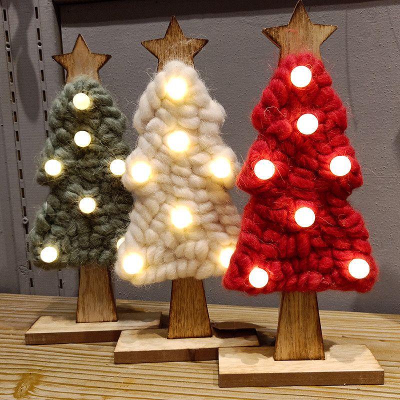 2018 LED Felt Christmas Tree Christmas Gifts For 2019 New Year Xmas ...
