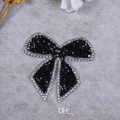 hotfix rhinestone butterfly embroidery motif rion on patches strass crystal applique for garment shoe bag decoration