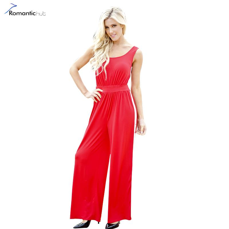 2018 Wholesale Sexy Sleeveless Tank 2018 Summer Jumpsuit Romper Women Hollow  Out Red Long Playsuit Elegant Side Split Sexy Overalls From Wangzi001, ... 64f219d0db