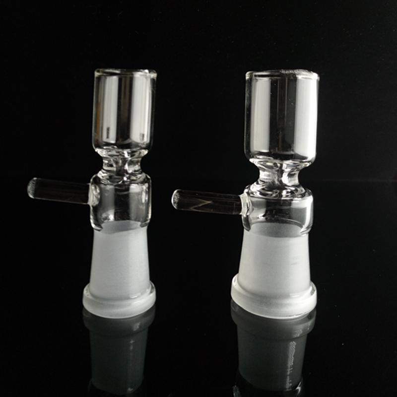 Female Pinch Bowl Glass Nail with Nifty Handle 14mm 18mm Female Bowls for Water Pipe Glass bong