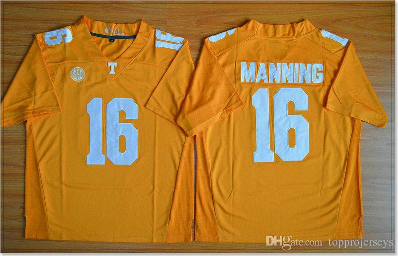 reputable site 2696c 8dc07 Tennessee Volunteers #16 Peyton Manning Vintage Mens College American  Football Sports Pro Team Jerseys Cheap Stitched Embroidery For Sale