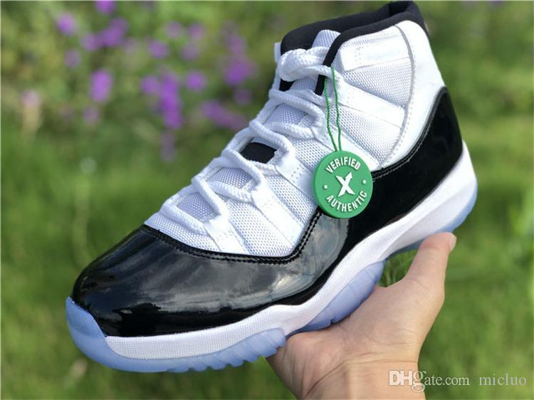 reputable site 72bce 9a72a With box 11 Prom Night concord Space Jam 45 Basketball Shoes men women  white black blue 11s men sports shoes Sneaker