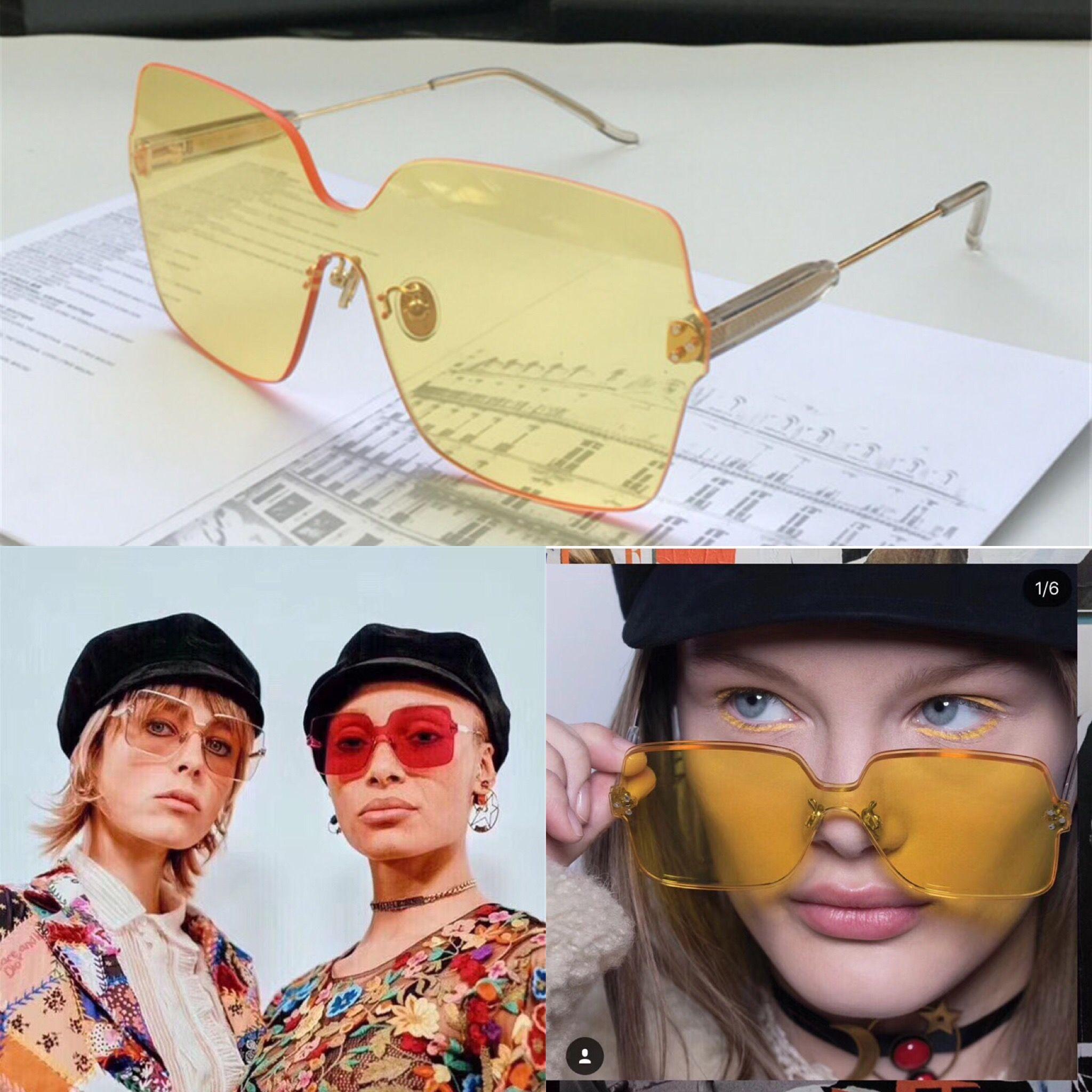 75df1abd841 New Fashion Designer Sunglasses ADCICT 2 Square Frameless Popular Style  Summer Candy Color Lenses Uv400 Protection Ornamental Eyewear Sunglasses  Shop Bolle ...