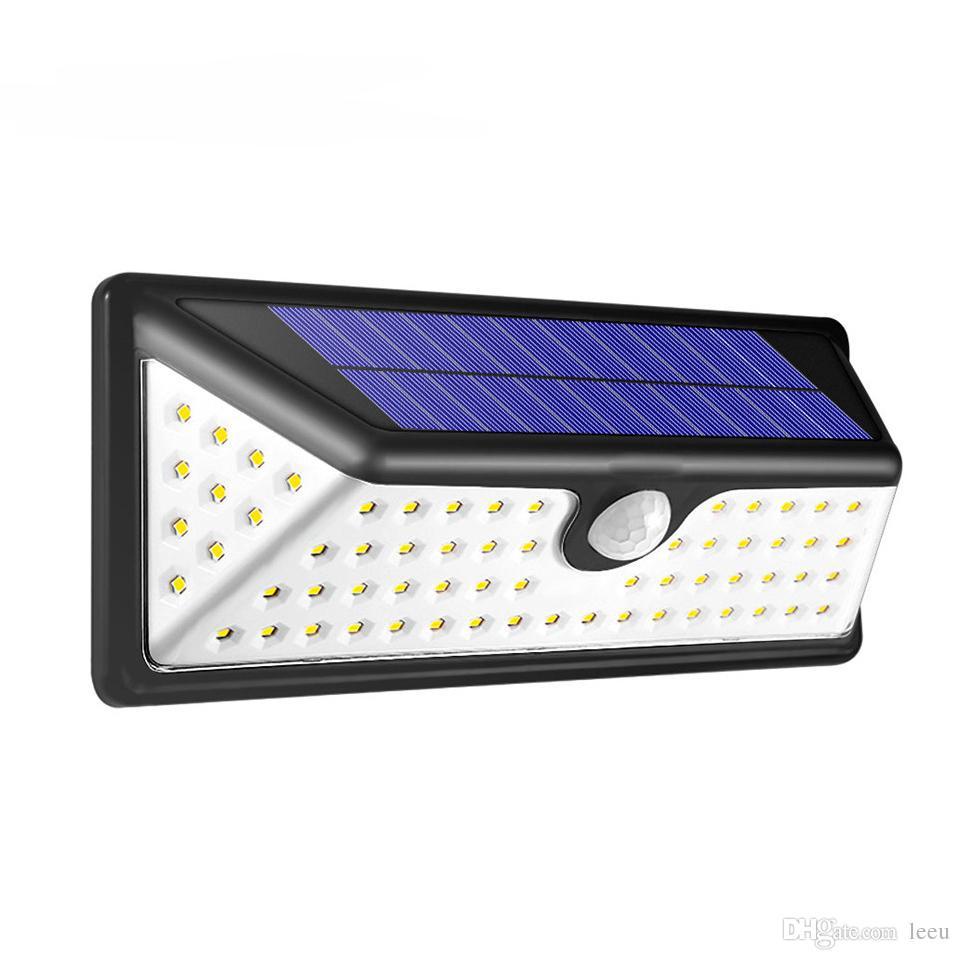 48 DEL Solaire Dimmable Wall Street Light PIR Détecteur de mouvement extérieur Lampe de jardin