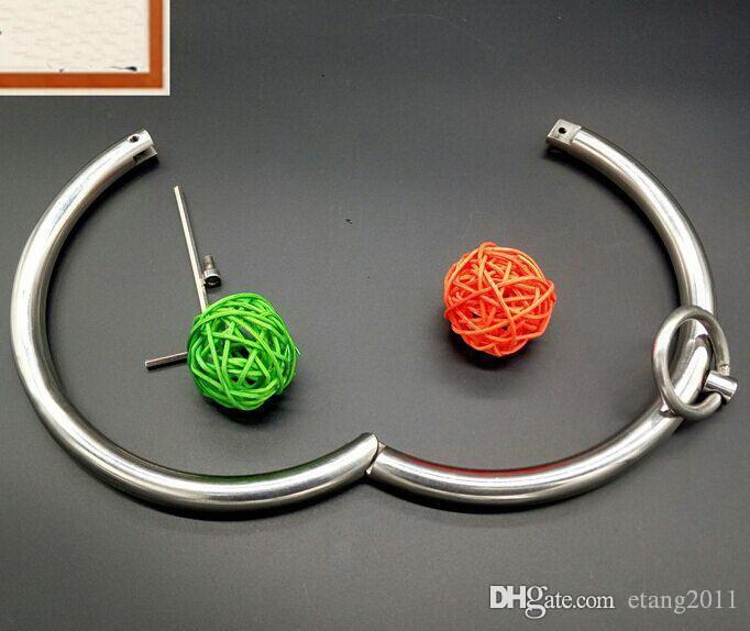BDSSM SM Sex Toys Bondage Scackle Collana in acciaio inox Collana Collana Guida di Slave Guida Geach Slave Game