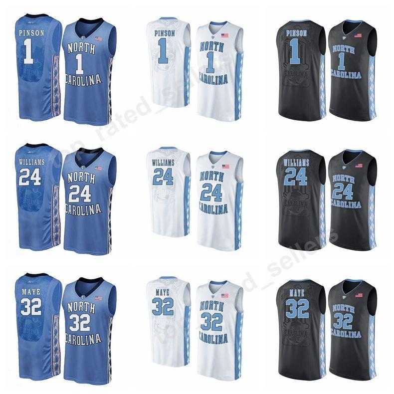 dea8eb312 Men Basketball 24 Kenny Williams Jersey College North Carolina Tar ...
