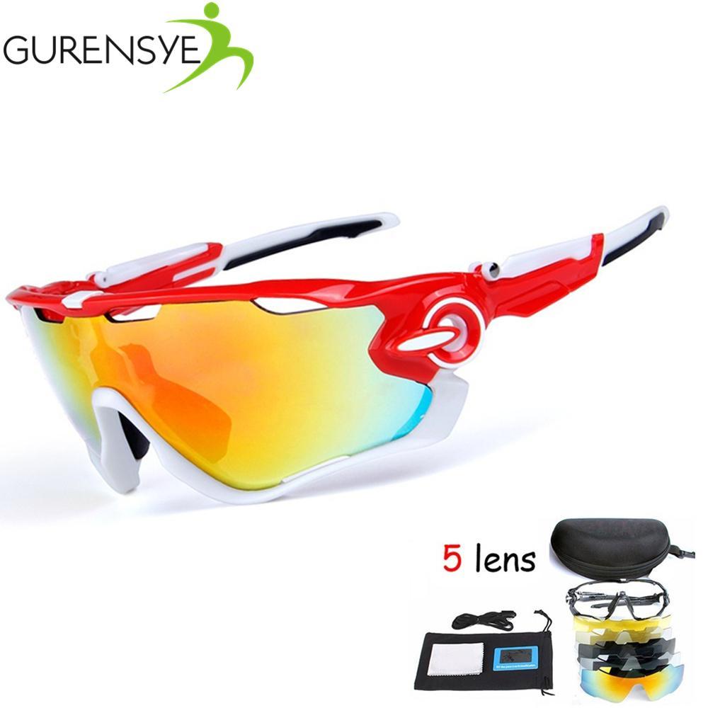 41b4f5eb6be11 Compre Polarizada Ciclismo SunGlasses   Mountain Bike Goggles   5 Lens Ciclismo  Eyewear Bicicleta Óculos De Sol Óculos Bicicleta Óculos De Proteção De ...