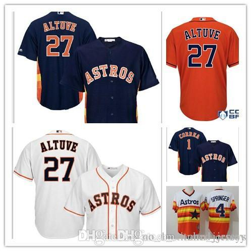 86aee10c 2017 New Houston Astros Jose Altuve 27 Jersey Men Carlos Correa George  Springer Cool Base stitched Baseball jerseys Top sales