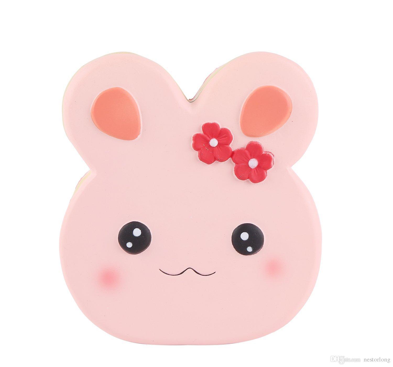 Squishies Kindergeburtstag Simulierte Süße Erdbeere Große kaninchen Kuchen Spielzeug Dekoration Fotografie Requisiten Angst Relief Spielzeug