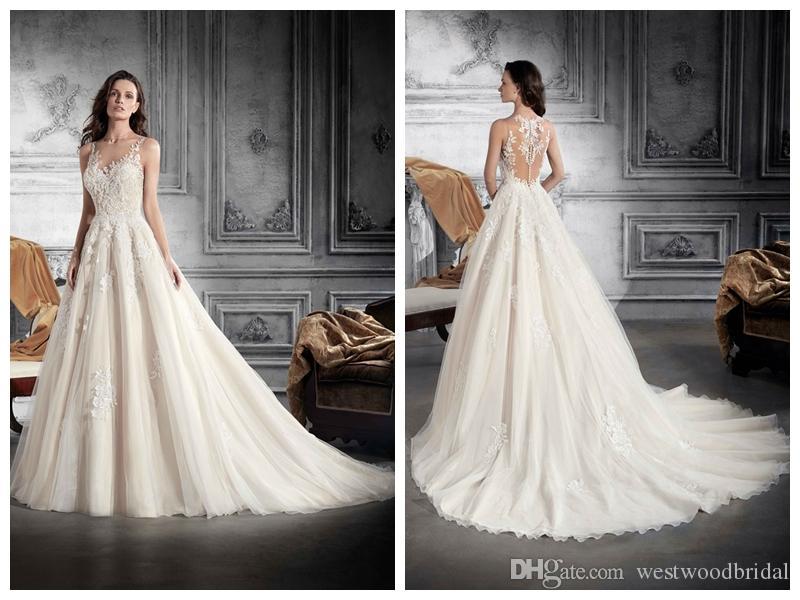 compre 2018 vestidos de novia robe de mariée demetrios 791 ivory