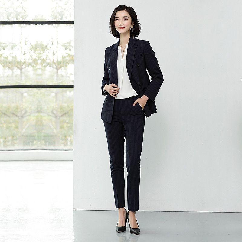 Diseños Negro Compre Uniformes Dos Trajes Mujer Formal Piezas Blazer wYRqfxR7g