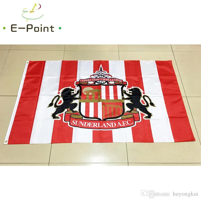 Inglaterra Sunderland AFC Tipo B 3 * 5ft 90 cm * 150 cm Poliéster bandeira EPL Bandeira decoração voando jardim de casa bandeira Presentes festivos