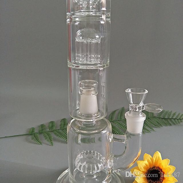 Tubo de agua de Hookah Vapexhale de cristal de 11 pulgadas con aireador de soporte G-309