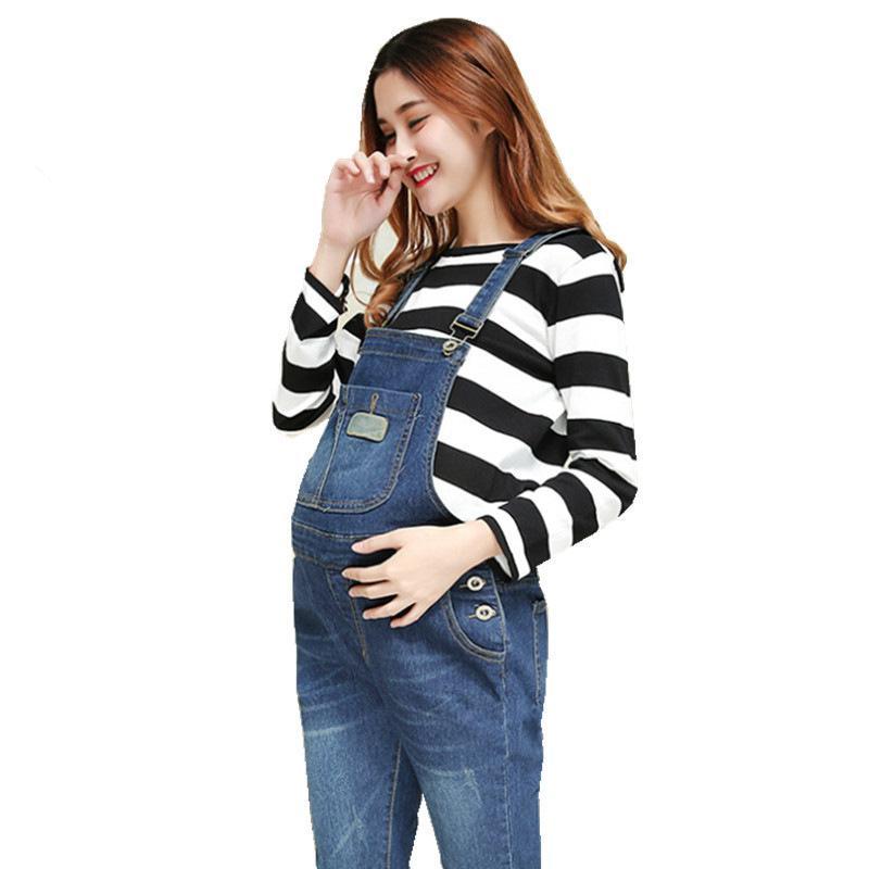 605c23423 Compre Ropa De Mujeres Embarazadas Mujeres Embarazadas Jeans Baberos Jeans  Mujer Ropa Embarazada Maternidad Zwanger Ropa De Embarazo A  34.66 Del  Xunqian ...
