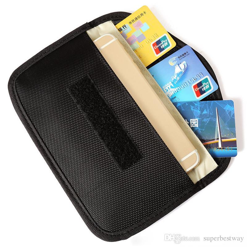 Universal-Anti-Strahlung-Tasche, Anti-Tracking-Tasche Anti-Spionage-GPS RFID-Tasche Brieftasche Telefon Handy-Tasche Tasche für Telefonkarten SCA408