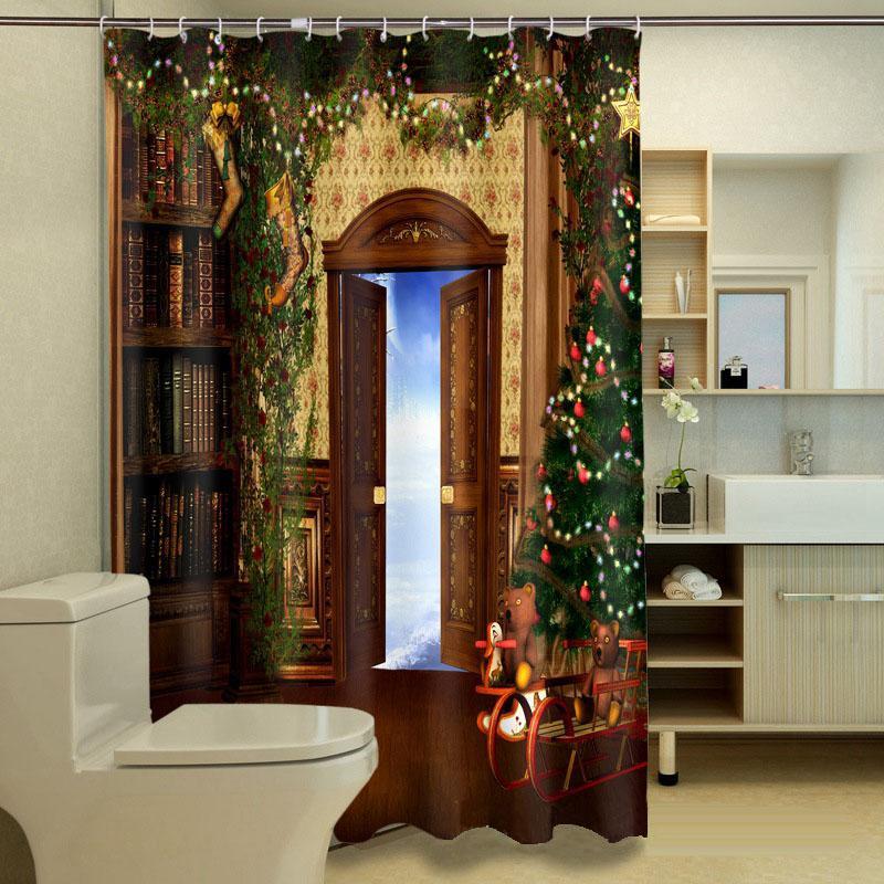 Großhandel Myru 3d Print Wasserdicht Weihnachten Duschvorhänge Bad ...
