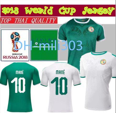 Mejor Calidad Tailandesa 18 19 Copa Del Mundo Senegal Camiseta De Fútbol  2018 2019 Senegal Nacional MANE Camiseta De Fútbol Del Equipo De Fútbol  Uniformes ... 83dec7f3a3a95