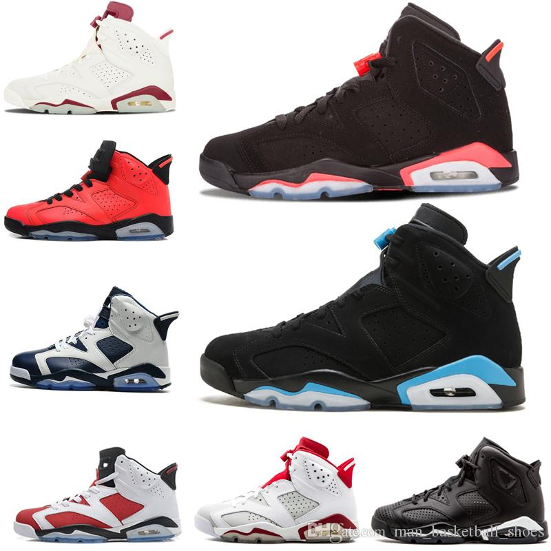 sale retailer d5eb6 3f15c 2018 Basketball Shoes 6s Gatorade 6 Men UNC 3M Black cat Marron Olympic  Infrared 23 Carmine Oreo Training Sneaker Sports Shoes size US 8-13