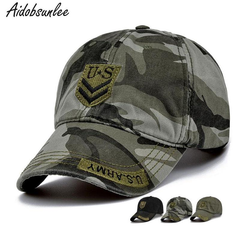 2018 New Men s Baseball Cap US Army Camouflage Hat Cotton Brand Cap Hats  Caps Men s Unisex Adjustable High Quality Hats For Sale Neweracap From  Junemay a8b03356027