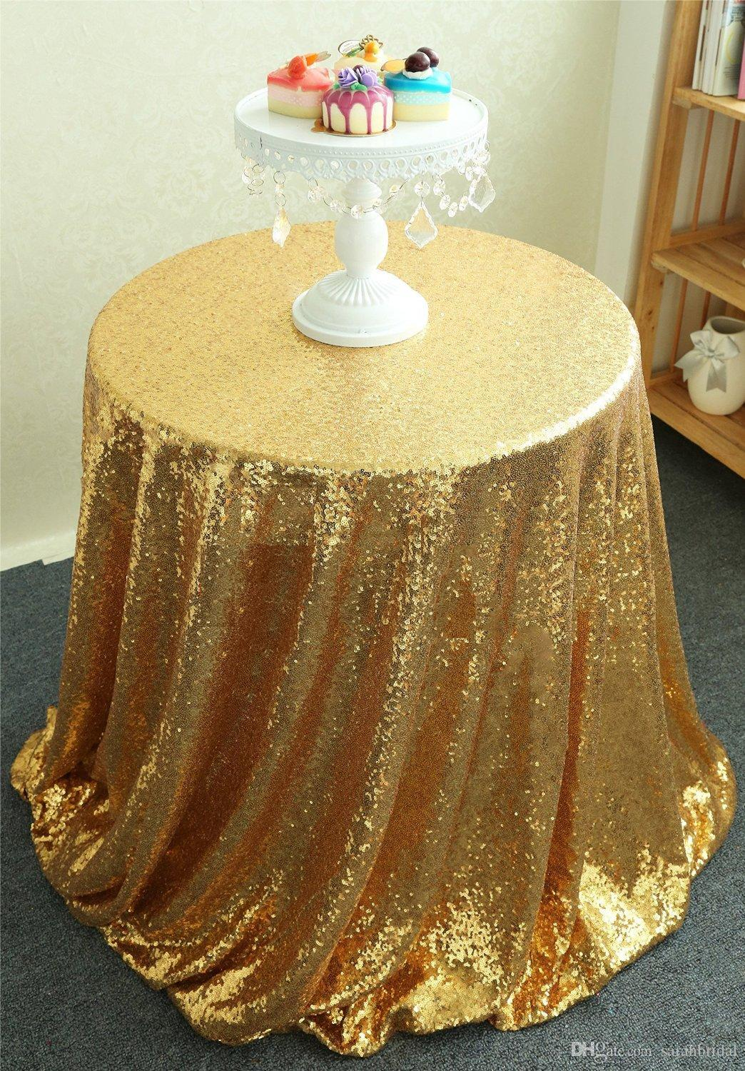 2021 Table cloth Table Cover round for Wedding Party Decoration Tables sequins Table Clothing Wedding Tablecloth Home Textile Custom Made