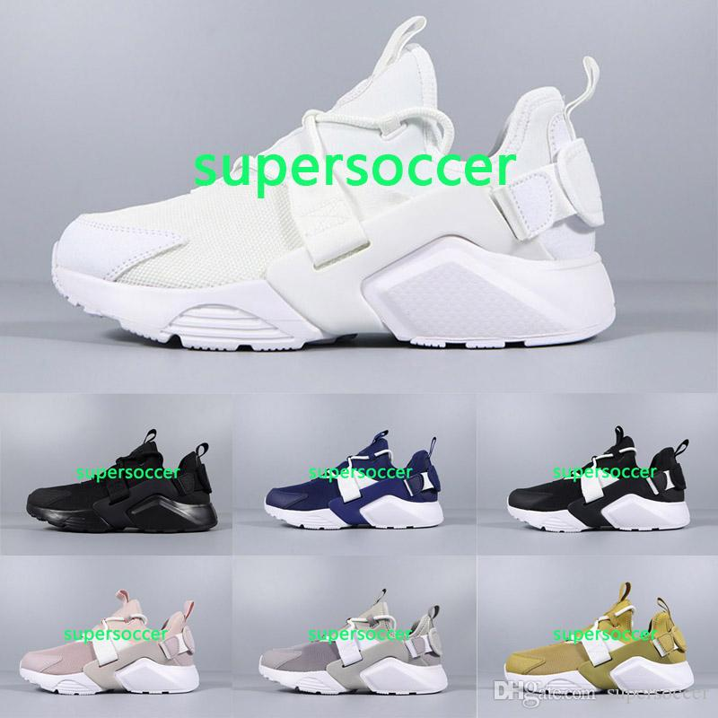 389dac67926 Newest Huarache 5 Running Shoes For Men Women Black pink High Quality  Sneakers Triple Huaraches Jogging Sports Shoes Eur36-45