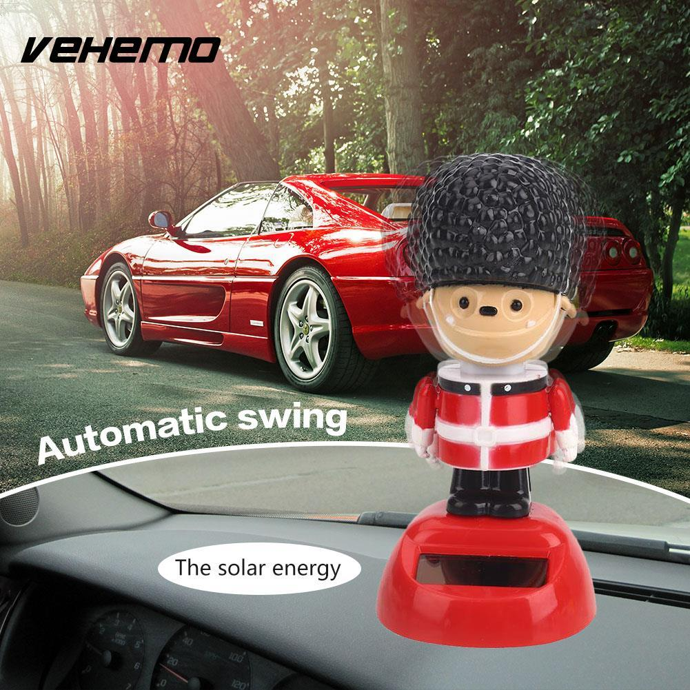 Doll Toy Cartoon Swing Toy Automobile Gift Automatic Solar Powered