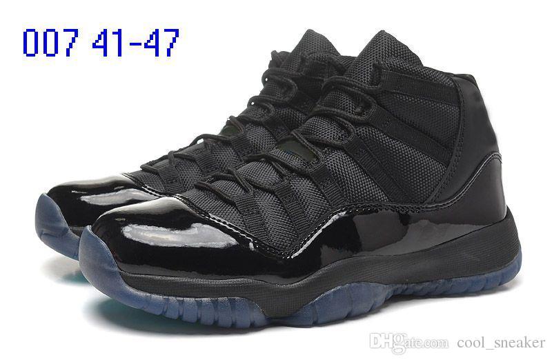 2018 Legend nike air jordan XI Mavi Uzay reçel Metalik Altın Mens 11 Basketbol Ayakkabıları MID Atletik XI Spor Sneakers Için