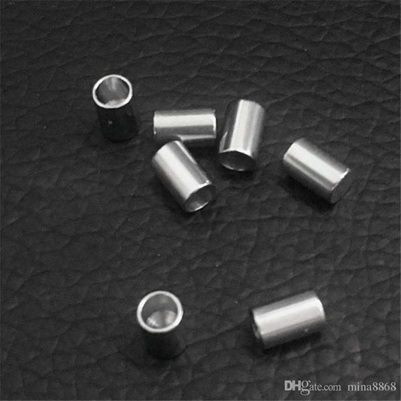 stainless steel Jewelry DIY Accessories Cord End Crimp caps for leather cord end cap crimp beads cap end beads silver wholesales