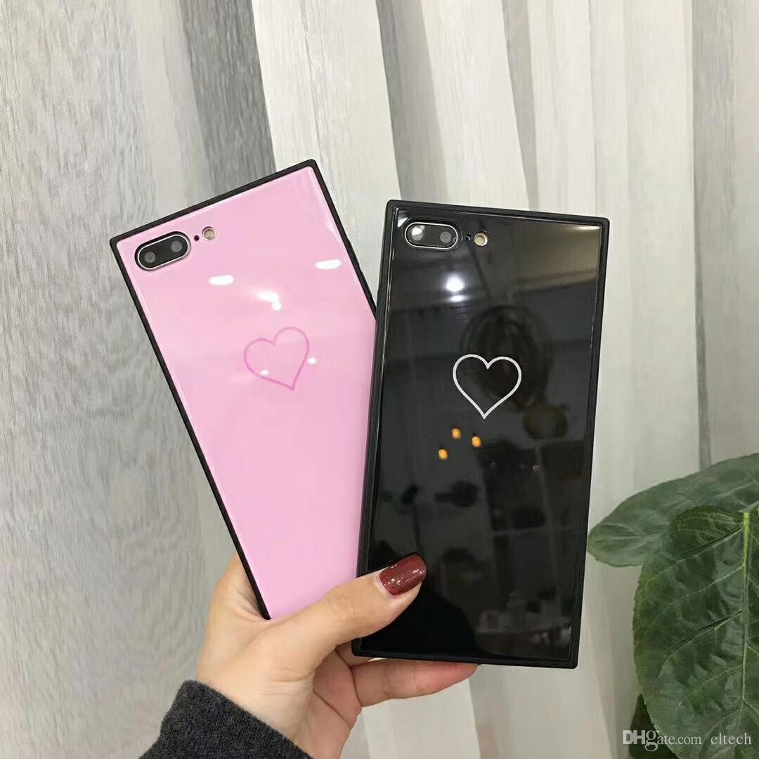 Cassa del telefono di caso della luce l'iphone X l'iphone 6 6S 7 8 più copertura di modo custodie colorate geometria del modello Capa