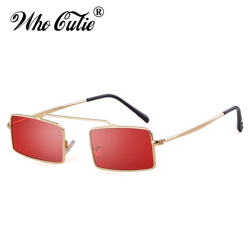 Compre OMS CUTIE Pequeno Retangular Vintage Óculos De Sol Das Mulheres Da  Moda 90 S Óculos De Sol Dos Homens Designer De Marca Retro Óculos De Sol  Lady ... b2d7c5b287