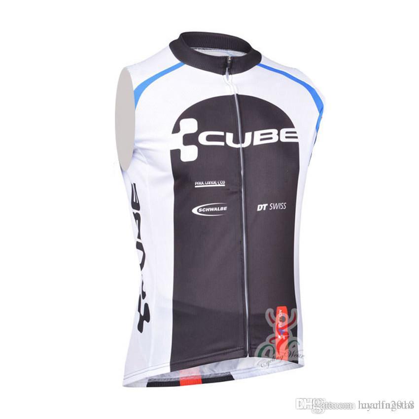 New CUBE Pro Team Cycling Sleeveless Jersey Bike Vest Maillot Ropa ... 8a9b83ebf