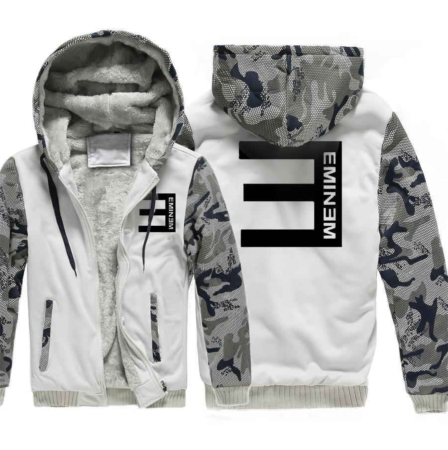 46188cc9dbf 2019 2017 Fashion Eminem Print Man Hip Hop Streetwear Brand Hoodie Men  Crewneck Zipper Fleece Casual Jacket Men S Sportswear From Fangfen