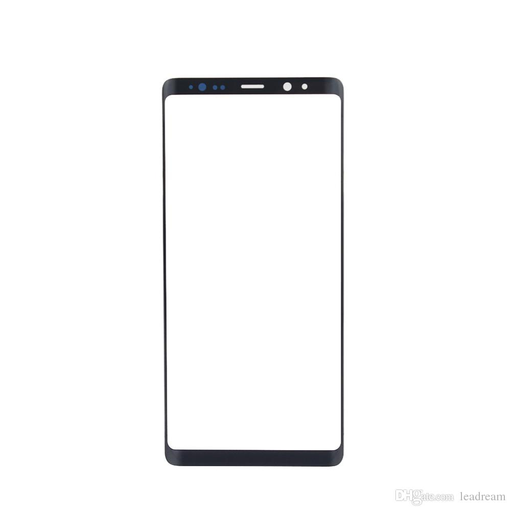 Original Black Silver Front Outer Touch Screen Glass Lens Replacement for Samsung Galaxy Note 8 N950A N950F free DHL